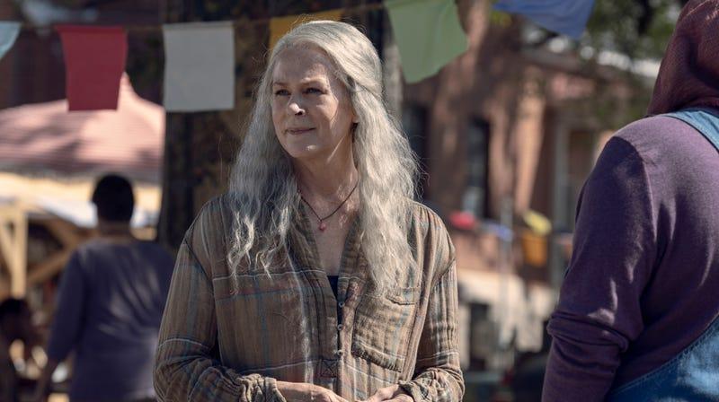 Carol (Melissa McBride) has a new, less murderous look on life.