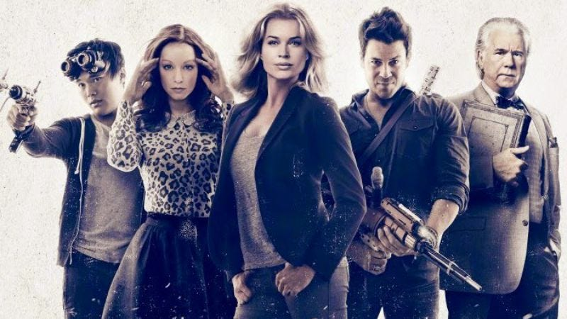 The cast of The Librarians (TNT)