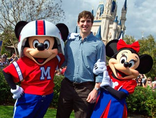 Illustration for article titled Eli Manning: 'My Mom And Dad Are Taking Me To Disney World!'