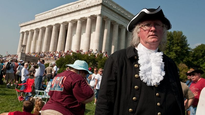 Tea party congressman listens to constituent who wears thomas tea party congressman listens to constituent who wears thomas jefferson costume everywhere solutioingenieria Image collections