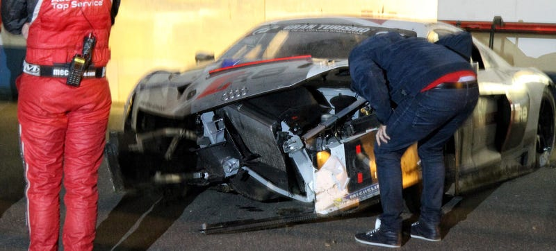 Illustration for article titled This Used To Be An Audi R8 LMS At The Nurburgring