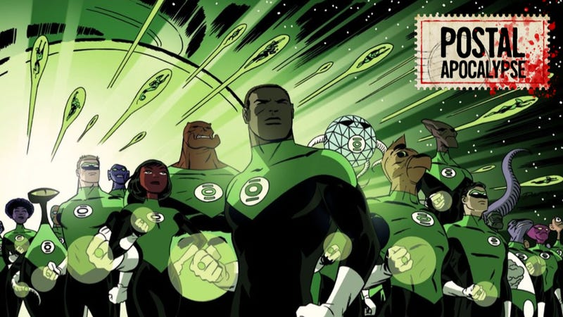 Green Lantern #37 variant cover by Darwyn Cooke.