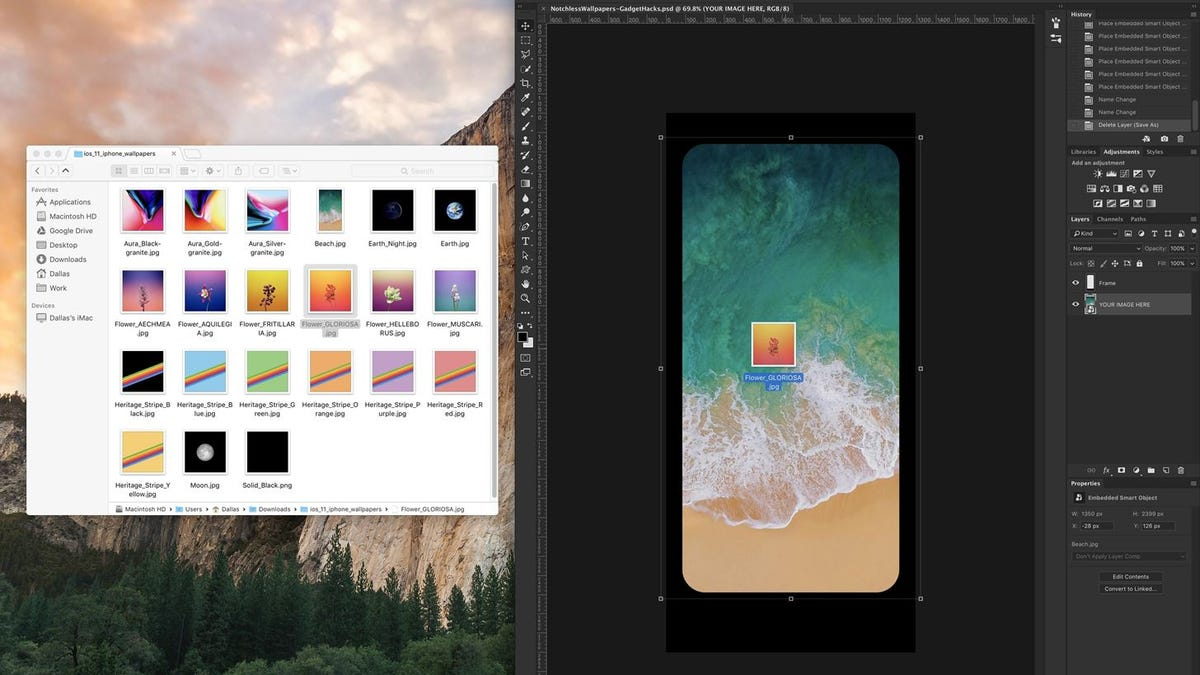 How To Hide The Iphone X S Ugly Notch With A Custom Wallpaper