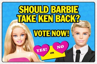 Illustration for article titled Ken's Nefarious Plot To Win Barbie Back