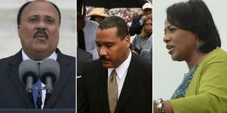Martin Luther King III (Saul Loeb/Getty); Dexter King (Mark Wilson/AFP/Getty); Bernice King (Michael Reynolds/Getty)
