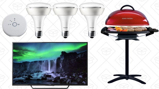 Saturday's Best Deals: Philips Hue Starter Kit, George Forman, Sony TVs, and More