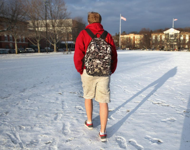 Illustration for article titled In Wisconsin, there's always that one guy at your office who wears shorts all winter
