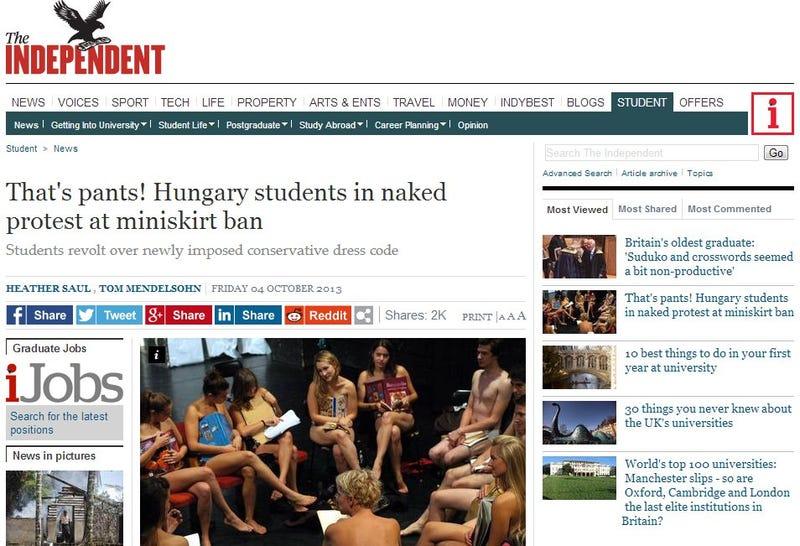 Illustration for article titled Independent: Osztatlan tetszést aratott a kaposvári diákok akciója