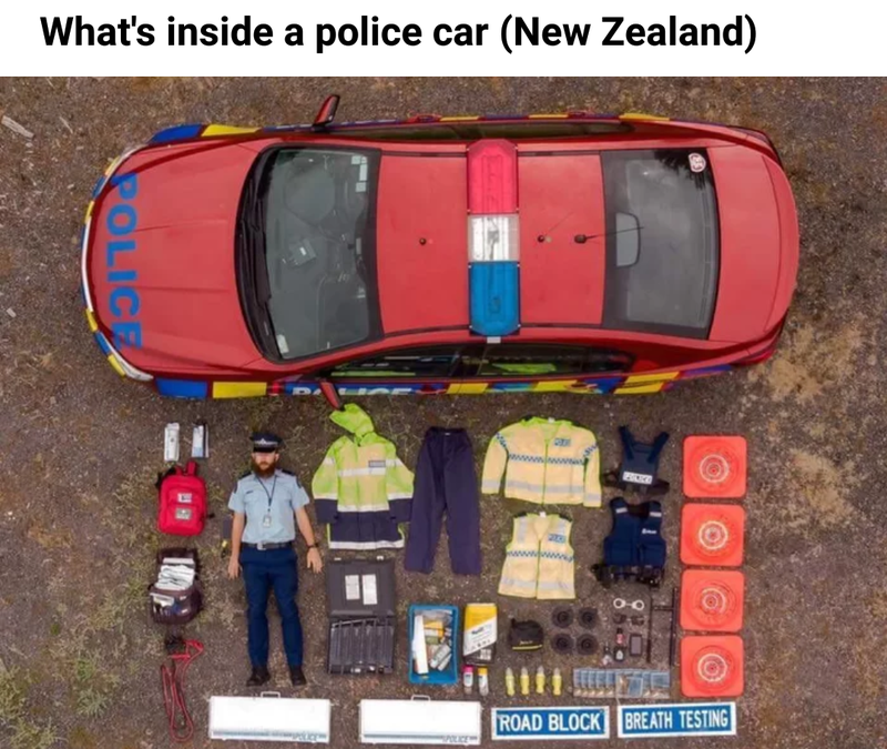 Illustration for article titled Contents of an NZ police car