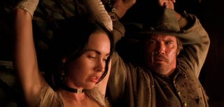Illustration for article titled First Jonah Hex Trailer Blasts Amazing Josh Brolin Antics Into Your Melted Face