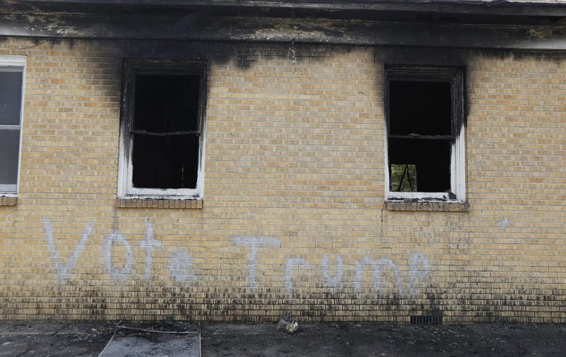 Hopewell Missionary Baptist Church in Greenville, Miss., after the fireWashington Post screenshot