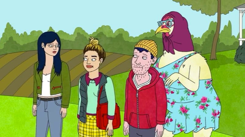 "Illustration for article titled BoJack Horseman: ""Chickens"""