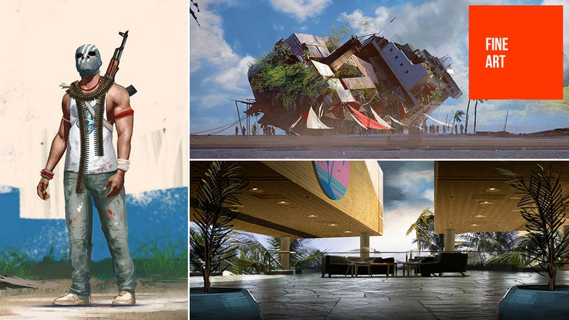Illustration for article titled Early Far Cry 3 Concept Art Shows Scrapped Ideas, Luxury Resorts And... Fun Parks