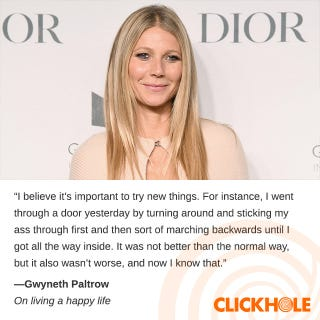 Illustration for article titled Gwyneth Paltrow Said What?!