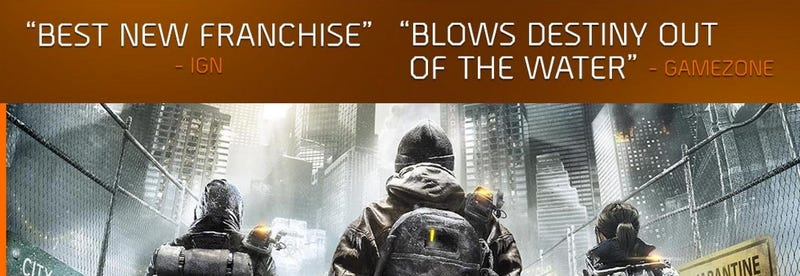 Illustration for article titled The Division's New Anti-Destiny Advertisement Is Incredibly Misleading