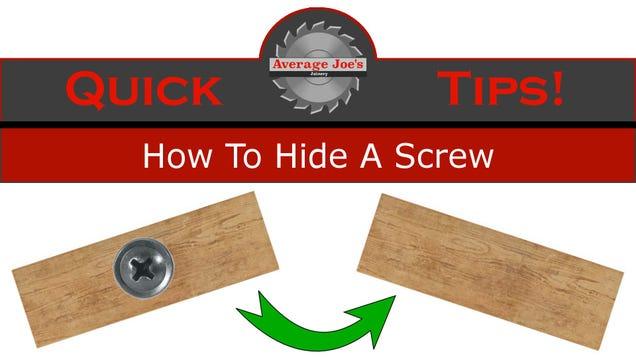 This Video Explains the Sneakiest Way to Hide Screws In Wood