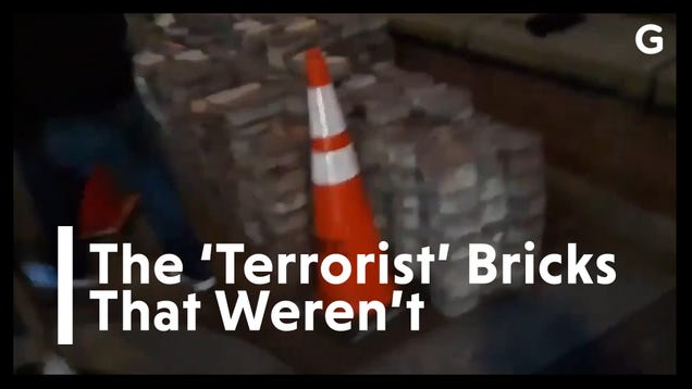 White House Propaganda Video Falsely Claims  Domestic Terrorists  Planted Bricks for Protesters