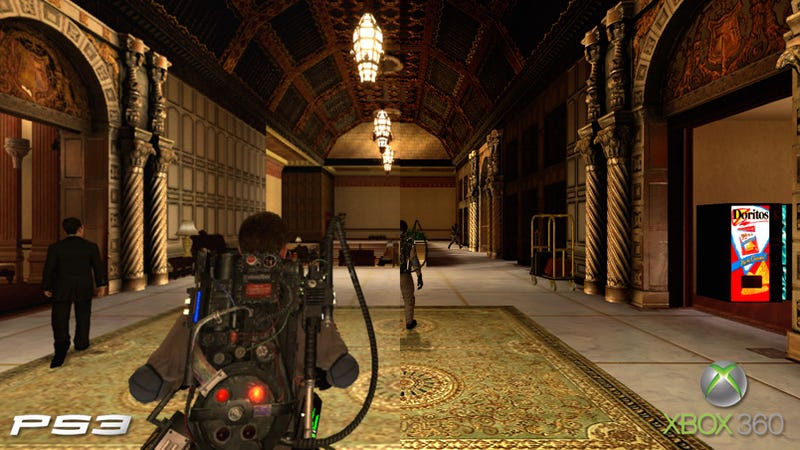 does ghostbusters  the video game look better on xbox 360