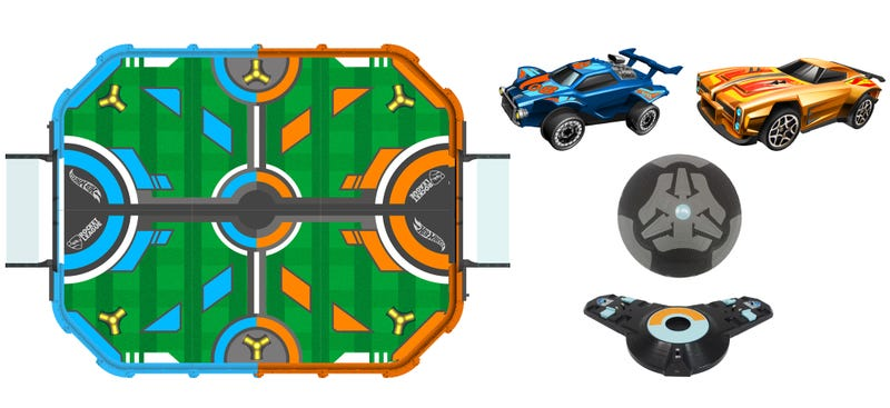 Illustration for article titled Hot Wheels Made a Real-Life Version of Rocket League With Tiny RC Cars