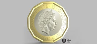 "Illustration for article titled The UK's New 12-Sided £1 Is the ""Most Secure Coin in the World"""