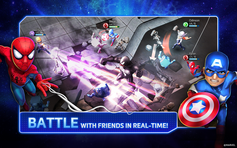 Illustration for article titled Now There's A Mighty Marvel Mobile Multiplayer Brawler