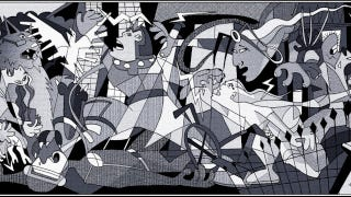 Illustration for article titled Picasso's Guernica, now featuring the X-Men