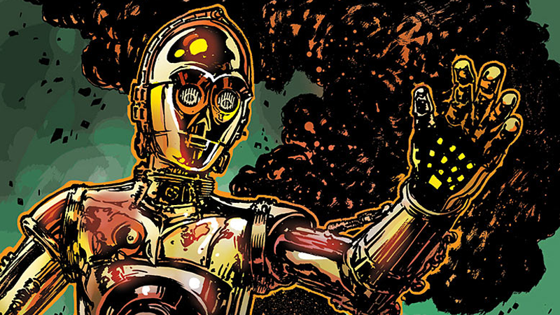 Illustration for article titled So Now We Know How C-3PO Got His Red Arm In The Force Awakens