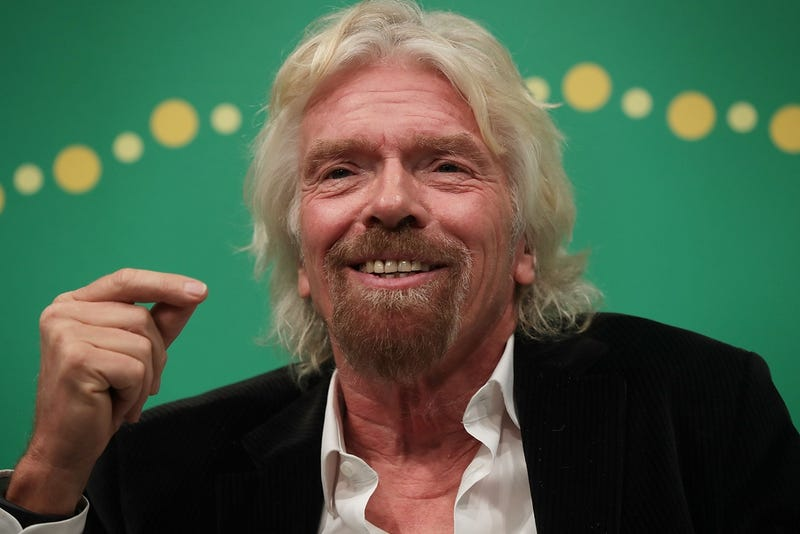 Richard Branson at a mental health conference in April 2016 (Photo by Alex Wong/Getty Images)