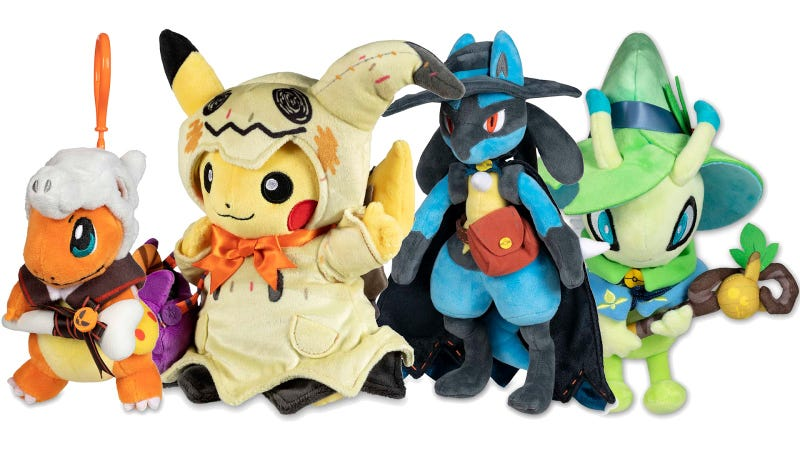 Illustration for article titled I Have Several Issues With This Year's Halloween Pokémon Toys