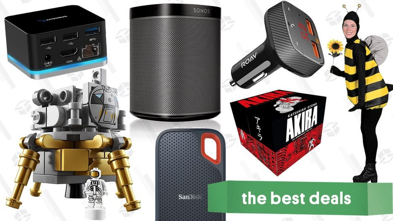 Illustration for article titled Monday's Best Deals: Halloween Costumes, Sonos Play:1, LEGO Apollo, Akira, and More