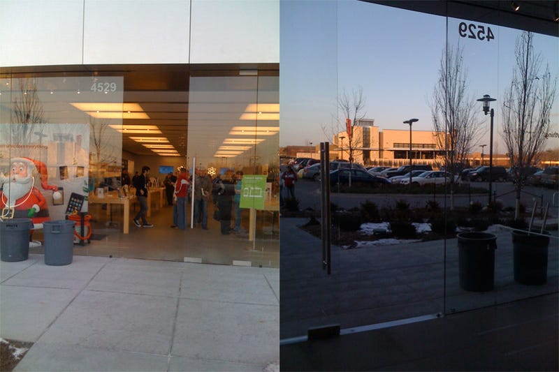 Apple Store Glass Door Explodes On Couple