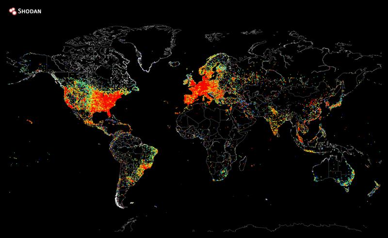 Illustration for article titled Este mapa muestra todos los dispositivos conectados a Internet