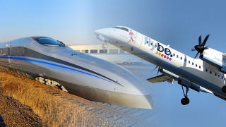 Illustration for article titled This Chinese train is faster than an American airliner