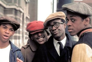 Glynn Turman (second from right), Lawrence Hilton-Jacobs (right) and other cast members in a scene from the original 1975 version of Cooley High. A remake is said to be in the works produced by Common and DeVon Franklin.MGM