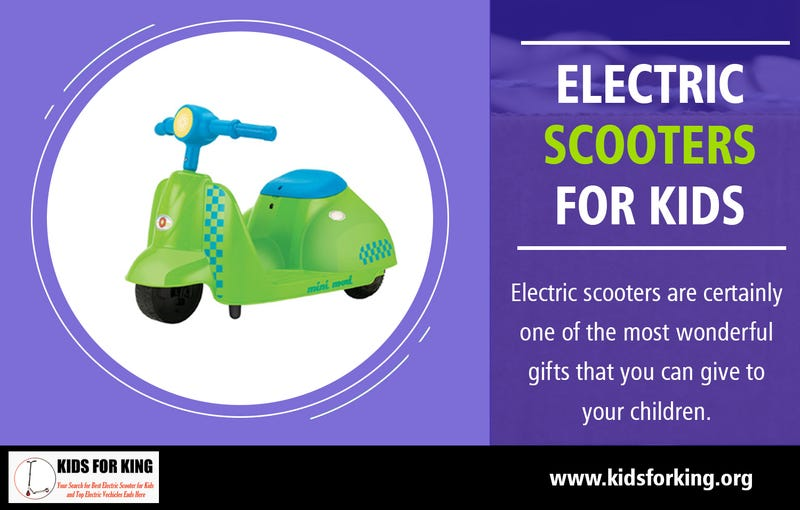 Illustration for article titled Electric Scooters for Kids | kidsforking.org