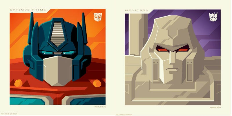 Illustration for article titled ThisTransformers Art Nails Something the Movies Do Not