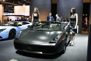 Illustration for article titled Detroit Auto Show: Lamborghini's Personalized Gallardo and Muricelago Live
