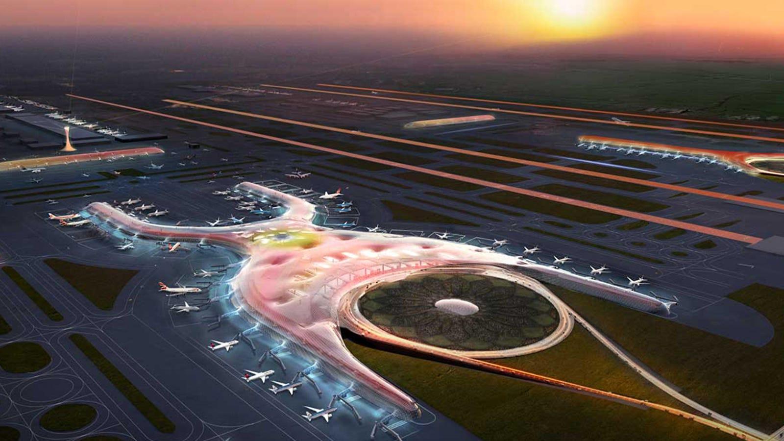 El nuevo aeropuerto internacional de México parece salido del futuro