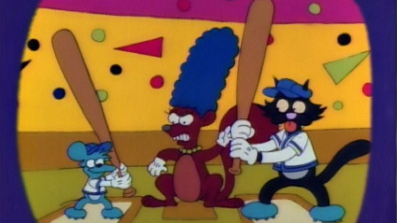 """Illustration for article titled The Simpsons (Classic): """"Itchy & Scratchy & Marge"""""""
