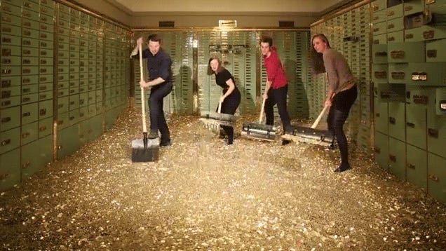 Can You Rent A Car With Cash >> Holy wow, you can actually swim like Scrooge McDuck in this bank vault