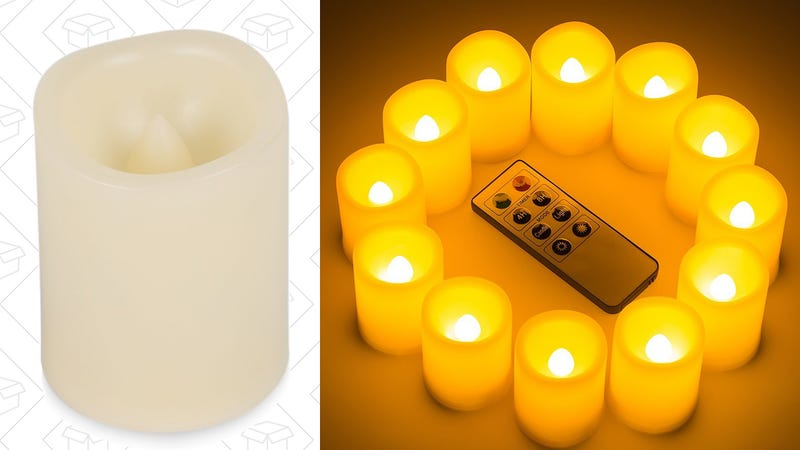 12 Flameless Remote Controlled Votives, $21 with code JAUK3A2B | 24 for $34 with code EZPI5GHY