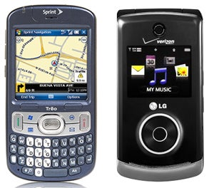 Illustration for article titled Reminder: Sprint Palm Treo 800w and Verizon LG Chocolate 3 Available Now