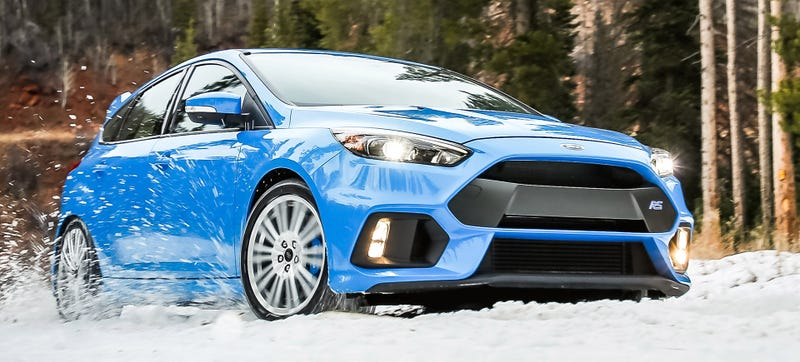 Illustration for article titled The Ford Focus RS Comes With Winter Tires From The Factory