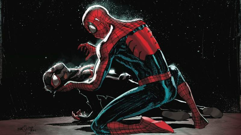Illustration for article titled Exclusive Marvel preview: A wounded Spider-Man makes an unlikely ally in Miles Morales #5
