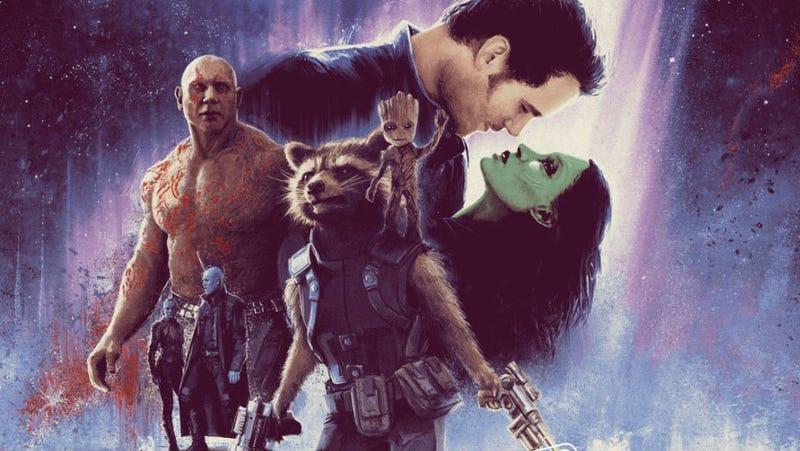 Guardianes de la Galaxia Vol. 2 con el estilo de El Imperio contraataca. Imagen: Matt Ferguson