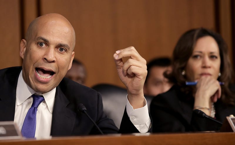 Illustration for article titled Cory Booker Tells Don Jr.: 'Kamala Harris Doesn't Have Shit to Prove' About Being Black