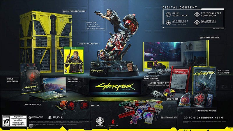 Preorder Cyberpunk 2077 Collector's Edition [PS4] | $250 | Amazon | Also at WalmartPreorder Cyberpunk 2077 Collector's Edition [Xbox One] | $250 | Amazon