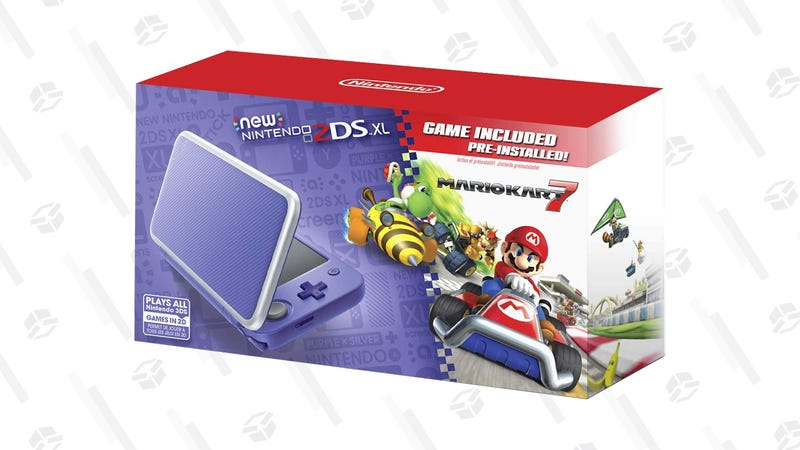 New Nintendo 2DS XL With Mario Kart 7 (Orange or Purple) | $140 | Amazon
