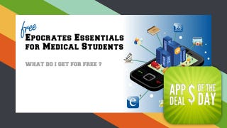 Illustration for article titled Daily App Deals: Epocrates Essentials Free For Med Students For The First Two Weeks in August