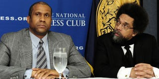 Tavis Smiley and Cornel West (Karen Bleier/AFP/Getty Images)